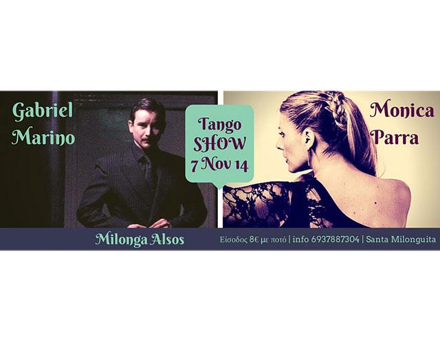 Monica Parra & Gabriel Marino SHOW @ Milonga ALSOS!